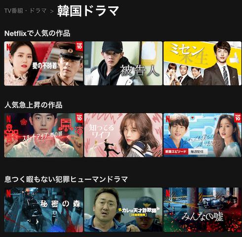 Netflixの韓国ドラマ