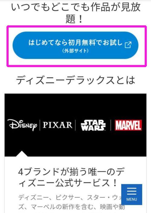 ディズニーデラックスのサイトを開く